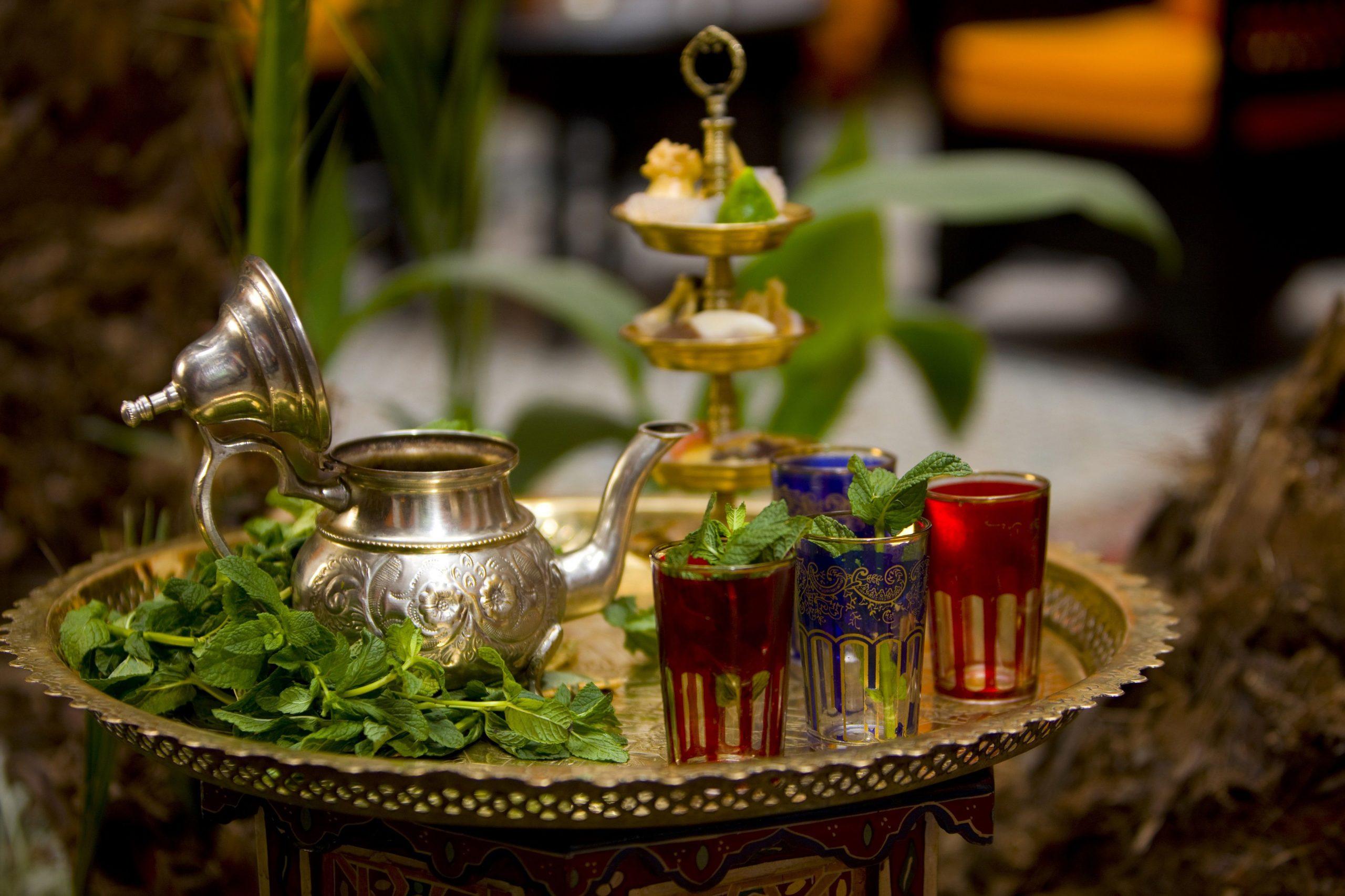 Thé sucré marocain